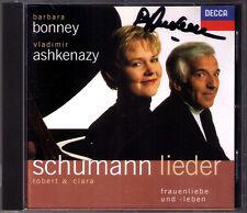 Barbara BONNEY Clara & Robert SCHUMANN Lieder ASHKENAZY Signed CD Widmung Mignon