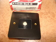 Mk Borde Tv/fm 1g de socket único Negro k14320 Bla B