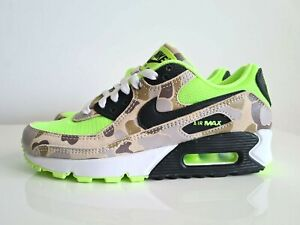 Nike Air Max 90 Green Camo CW4039-300 Running Shoes Mens SZ us5 Womens SZ us 6.5