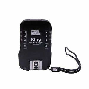 UK Seller!  Pixel King Wireless E-TTL Extra Receiver Flash Trigger for Canon
