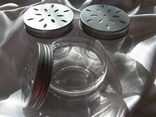 6 x 150ml aroma Daisy jars with a vented silver screw lid Use for Beads salts