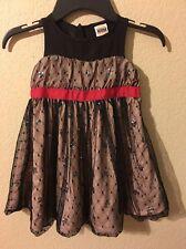 Harajuku Mini Black Sequined Mesh Toddler Dress Size 2T