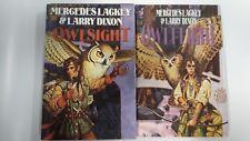 Mercedes Lackey & Larry Dixon: Owlsight and Owlknight - Book Club Hardcovers Set