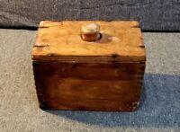 Vintage Antique Wooden Butter Press Mold