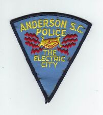 "VINTAGE ANDERSON, SC POLICE ""THE ELECTRIC CITY"" (CHEESE CLOTH BACK) patch"