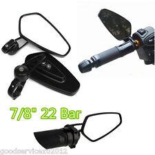 "One Pair Billet Aluminum Motorbikes ATV 7/8"" Handbar Rear View Mirrors Universal"