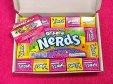 Wonka Rainbow Nerds Gift Box - Birthday Xmas American Retro USA Candy Sweets