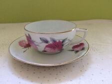 tasse art déco TLB Limoges rose gris
