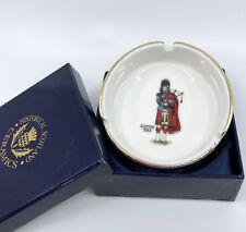 Ashtray Historical Scotland Ceramics 3.5in Scottish Bag Piper Decor Original Box