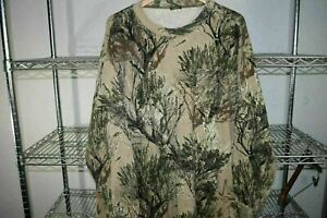 Cabela's Camo Camouflage LS Pocket t shirt 3X XXXL Seclusion 3D Open Country