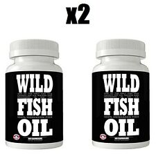 Finest Wild Fish Oil | Omega-3 DPA/EPA/DHA Supplement, 2 Bottles 120 Caps 1000mg