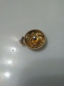 14k yellow SOLID gold sombrero charm/pendant Mex NOT SCRAP