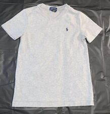 Polo By Ralph Lauren Boys Size 7 Gray Cotton Short Sleeve Crewneck T-Shirt
