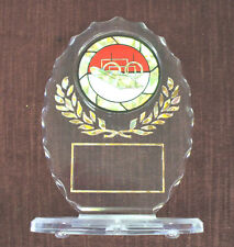 Male Gymnastics trophy award oval acrylic