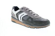 Geox U Sandford U92A6A022FUC9879 gris para hombre de ante Zapatos Tenis Euro