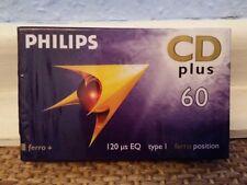 Unbenutzt! 1x PHILIPS CD PLUS 60 TYPE I Leerkassette !!!