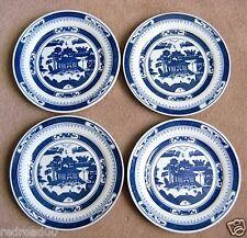 "JINGDEZHEN ZHI CANTON FOUR DINER PLATE 9-1/8"" BLUE & WHITE BLUE MARK UNDERGLAZE"