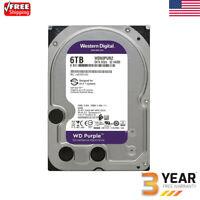 WD Purple 6TB Surveillance Hard Disk Drive 5400RPM SATA 6 Gb/s 128MB Cache HDD