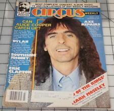 Circus Magazine Vintage December 19 1978 Alice Cooper Dylan Clapton