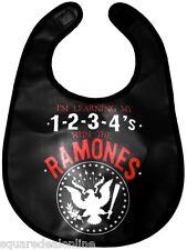 87021 Black Red White Ramones Eagle Emblem Logo Vinyl Baby Bib Sourpuss NEW