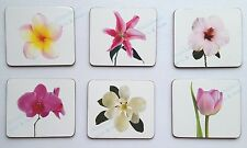 'Annabelle' Flowers Cork Backed Coasters - Set of 6 *NEW*