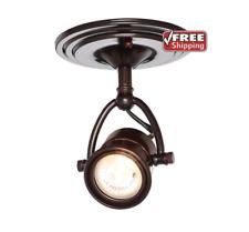 Hampton Bay Track Lighting Pinhole Ceiling Fixture Adjustable 50W Halogen Bronze
