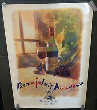 VINTAGE POSTER Barton & Guestier Beaujolais Nouveau 1991 Wine Classic Artistics