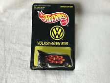 1998 Hot Wheels Volkswagen Bus ~ Black w/Flames ~ New ~ Free Shipping