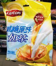Lipton instant milk tea powder rich smooth less sugar 20 packs 340g