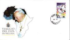 548- FDC VATICAN VISITE PAPE JEAN PAUL II   AU  NIGERIA