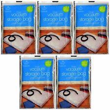 5 Large Vacuum Storage Bags | Closet Space Saver | Clothes Blankets | 100 * 80cm