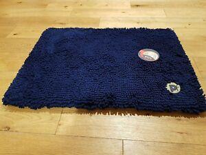Navy Blue Petface Memory Foam Microfibre Crate Mat Dog Bed Pet Face