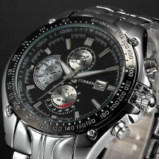 CURREN Fashion Men Military Sport Wrist Watch Stainless Steel Date Analog Quartz