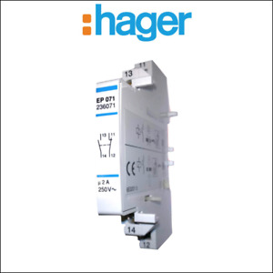 Hager EP 071 Auxiliary Switch Auxiliary Contact for contactors and relay 1S + 1
