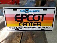 Rare Vintage  Embossed Epcot Center Walt Disney World License Plate Metal