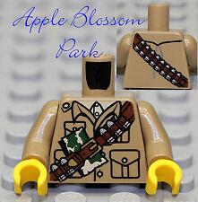 NEW Lego Minifig Dark TAN TORSO Army Soldier Pocket Shirt w/Gun Ammo Bullet Belt