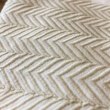 ONE Delfinia Euro Pillow Sham in White with Embroidery Chevron Gold Stitching