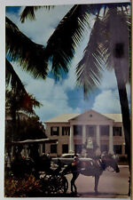 Nassau in the Bahamas, Post Office & Statue Queen Victoria, Bahamas, Posted 1963