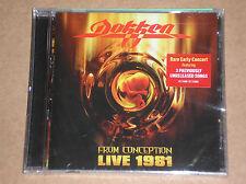 DOKKEN - FROM CONCEPTION: LIVE 1981 - CD SIGILLATO (SEALED)