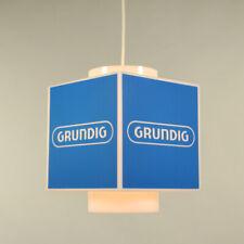 Grundig Hänge Lampe Neuw Pendel Werbe Leuchte Würfel NOS Vintage 70er OVP Radio