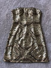 Adrianna Papell Strapless Gold Sequin Dress - Size 6 - Nordstrom