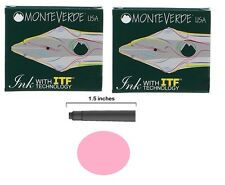 12 Monteverde International Standard Fountain Pen Ink Cartridges - Pink