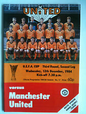 MINT 1984/85 Dundee United v Manchester United EUFA Cup 3rd Rd, 2nd Leg