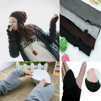Womens Ladies Winter Wrist Arm Hand Warmer Knitted Long Fingerless Gloves Mitten