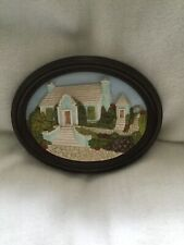 Fraser Creations Bermuda Cottage Green Landscapes Handmade in Scotland Framed