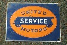 United service motors porcelain sign