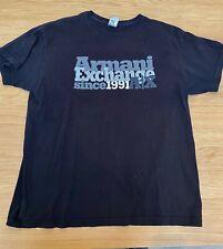 Vintage Armani Exchange Men's Used Black T-shirt