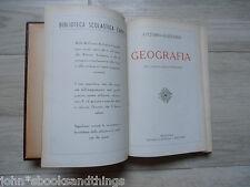 1940 GEOGRAFIA PER LICEI CLASSICI SCIENTIFICI LIBRO SCUOLA ANTICO FASCISMO
