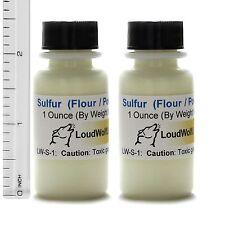 Sulfur (Sulphur) Powder  Ultra-Pure (99%)  Fine Flour  2 Oz  SHIPS FAST from USA
