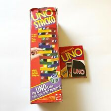 Vtg 1994 UNO Stacko Game And uno cards 1992 lot Stacking Tower lot